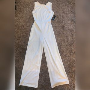 Brand New Lulu's Woman's Medium White Jumpsuit